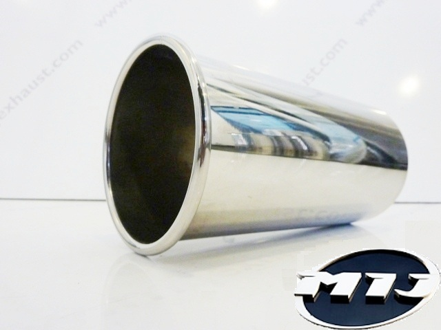 """5/"""" OD Outer Diameter Rolled Out Tailpipe Weld On Fitting Stainless Steel 127mm"""